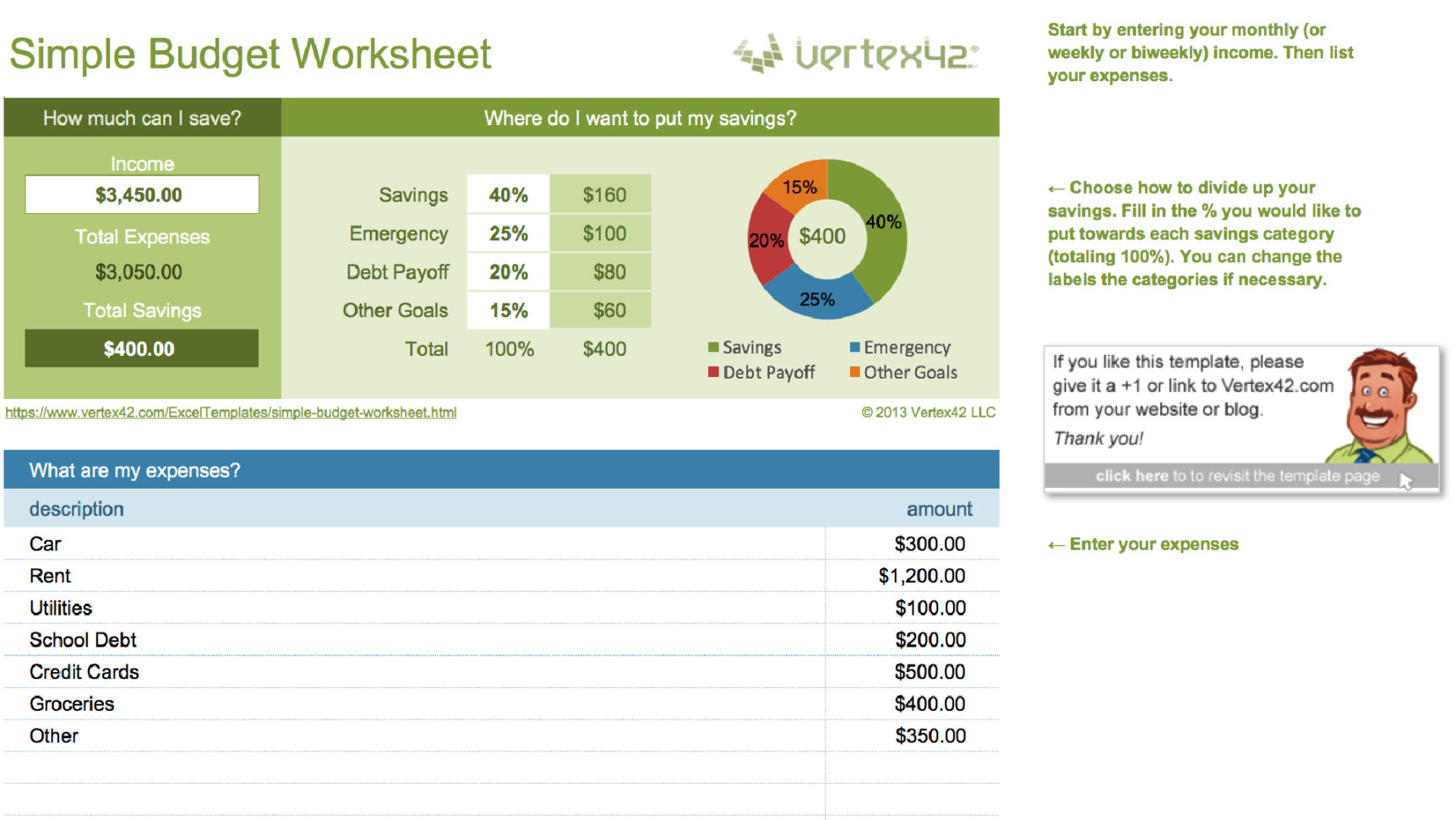 Easy Monthly Budget Spreadsheet In 15 Easytouse Budget Templates  Gobankingrates