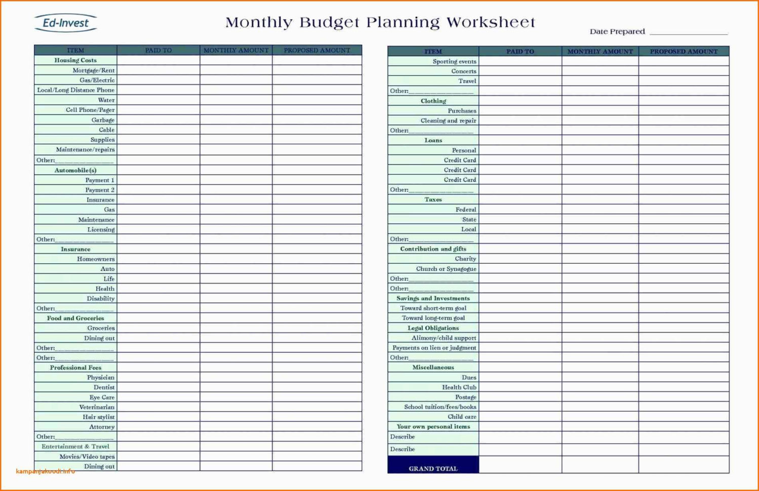 Easy Spreadsheet For Monthly Bills With Printable Monthly Budget Planner Template Easy Spreadsheet Bud Bill