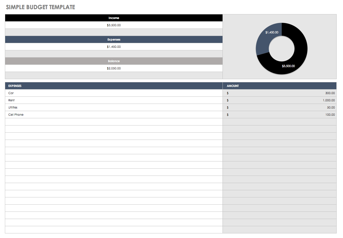 Easy Spreadsheet Template Throughout 32 Free Excel Spreadsheet Templates  Smartsheet