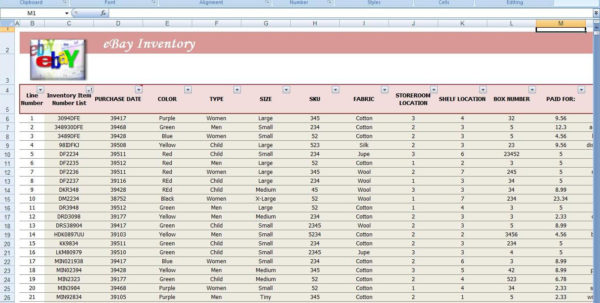 Ebay Inventory Tracking Spreadsheet For Business Inventory Tracking Spreadsheet Software Other First