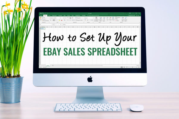 Ebay Listing Spreadsheet Throughout How To Set Up Your Ebay Sales Spreadsheet  Inexpensive Ebay Sales