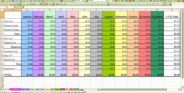 Ebay Profit And Loss Spreadsheet With Regard To Ebay Profit  Loss Excel Spreadsheet