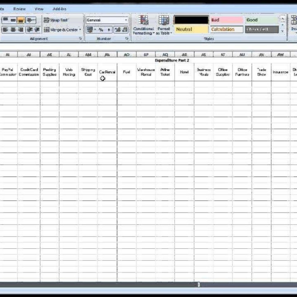 Ebay Spreadsheet Free Throughout Free Ebay Spreadsheet Template Using Excel  Youtube With Accounting