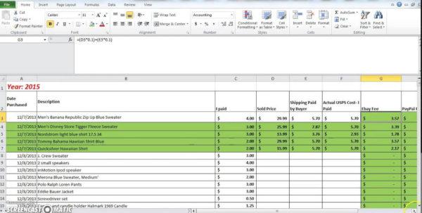 Ebay Spreadsheet In Ebay Accounting Spreadsheet How To Make A Spreadsheet Online
