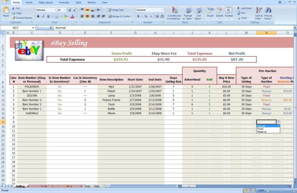 Ebay Spreadsheet Template Free Intended For Ebay Spreadsheet Template Free  Austinroofing