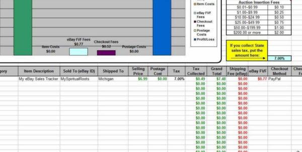 Ebay Spreadsheet With Regard To My Ebay Sales Tracker Spreadsheet  Youtube For Safety Tracking Ebay Spreadsheet Google Spreadsheet