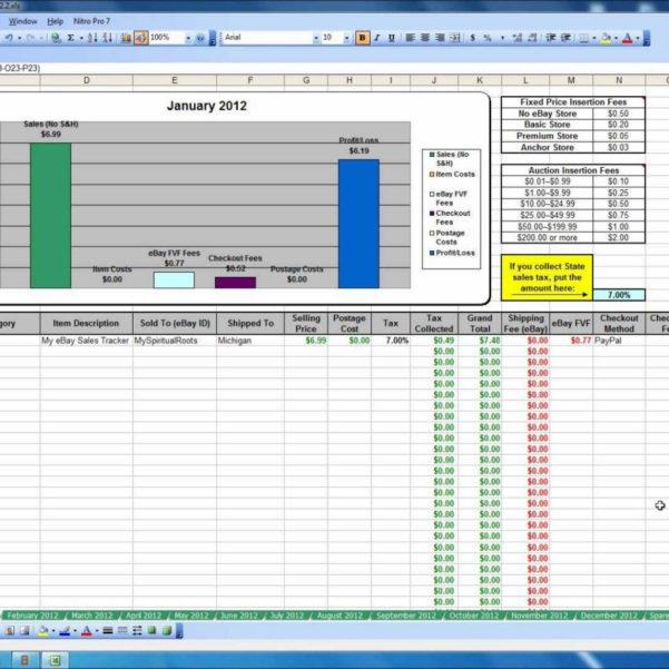 Ebay Spreadsheet With Regard To My Ebay Sales Tracker Spreadsheet  Youtube For Safety Tracking
