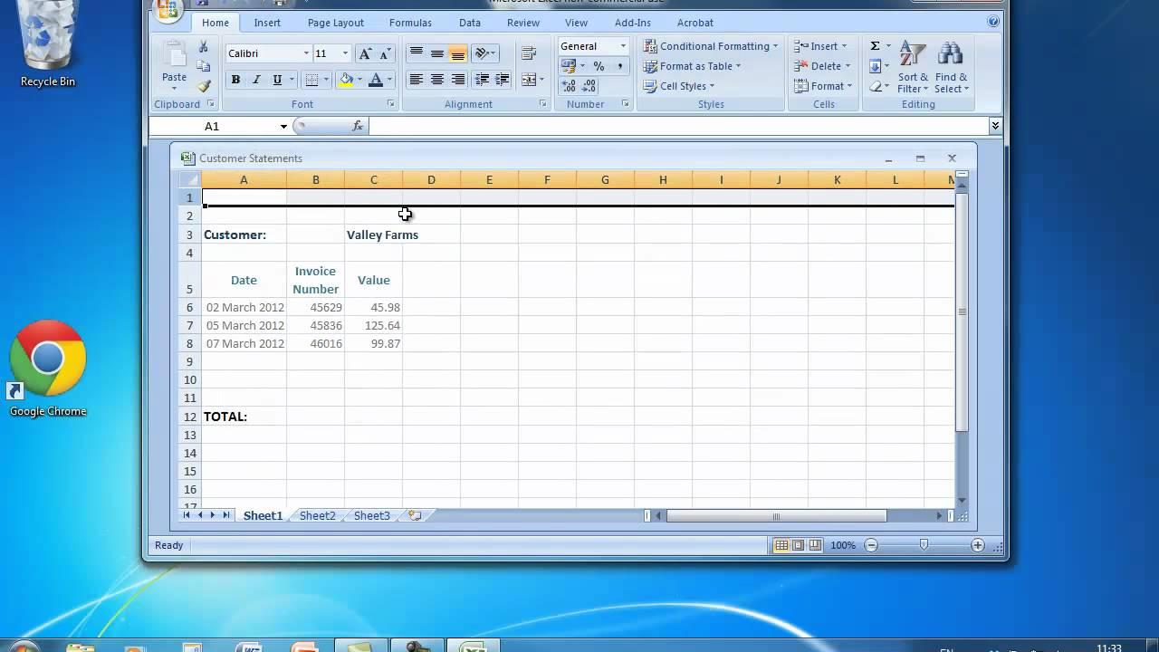 Ecdl Spreadsheet In Ecdl Tutorials  Module 4 Spreadsheets  Channel Pwem