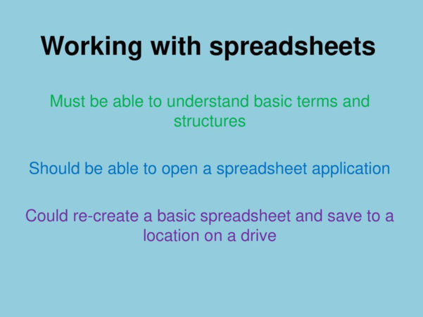 Ecdl Spreadsheet Inside Ecdl Ecdl Is An Important Building Block, Equipping You With The