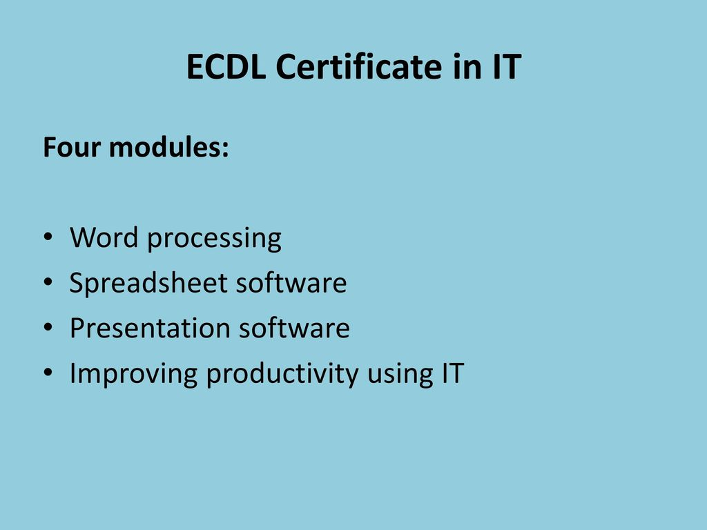 Ecdl Spreadsheet Regarding Ecdl Ecdl Is An Important Building Block, Equipping You With The