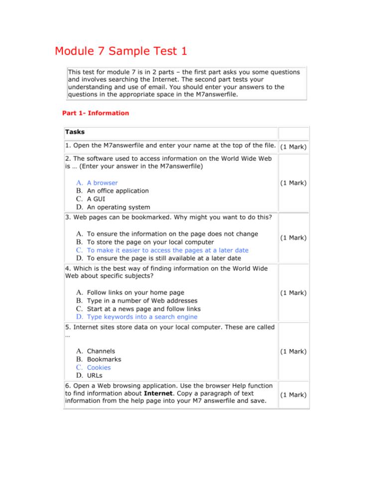 Ecdl Spreadsheet Test Pertaining To Ecdl Sample Test Module 4