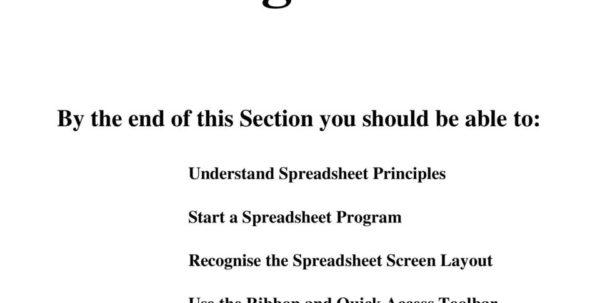 Ecdl Spreadsheet With Regard To Ecdl. European Computer Driving Licence. Spreadsheet Software Bcs