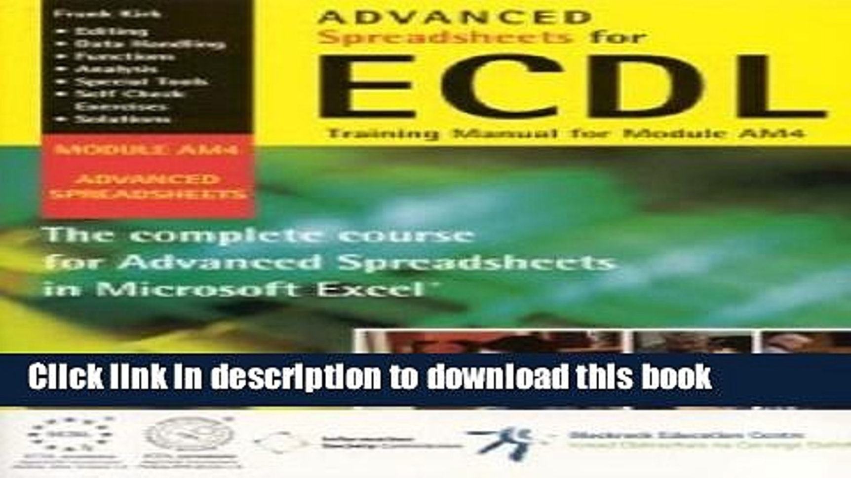 Ecdl Spreadsheets For Books Advanced Spreadsheets For Ecdl: Training Manual For Module Am4 Free  Online