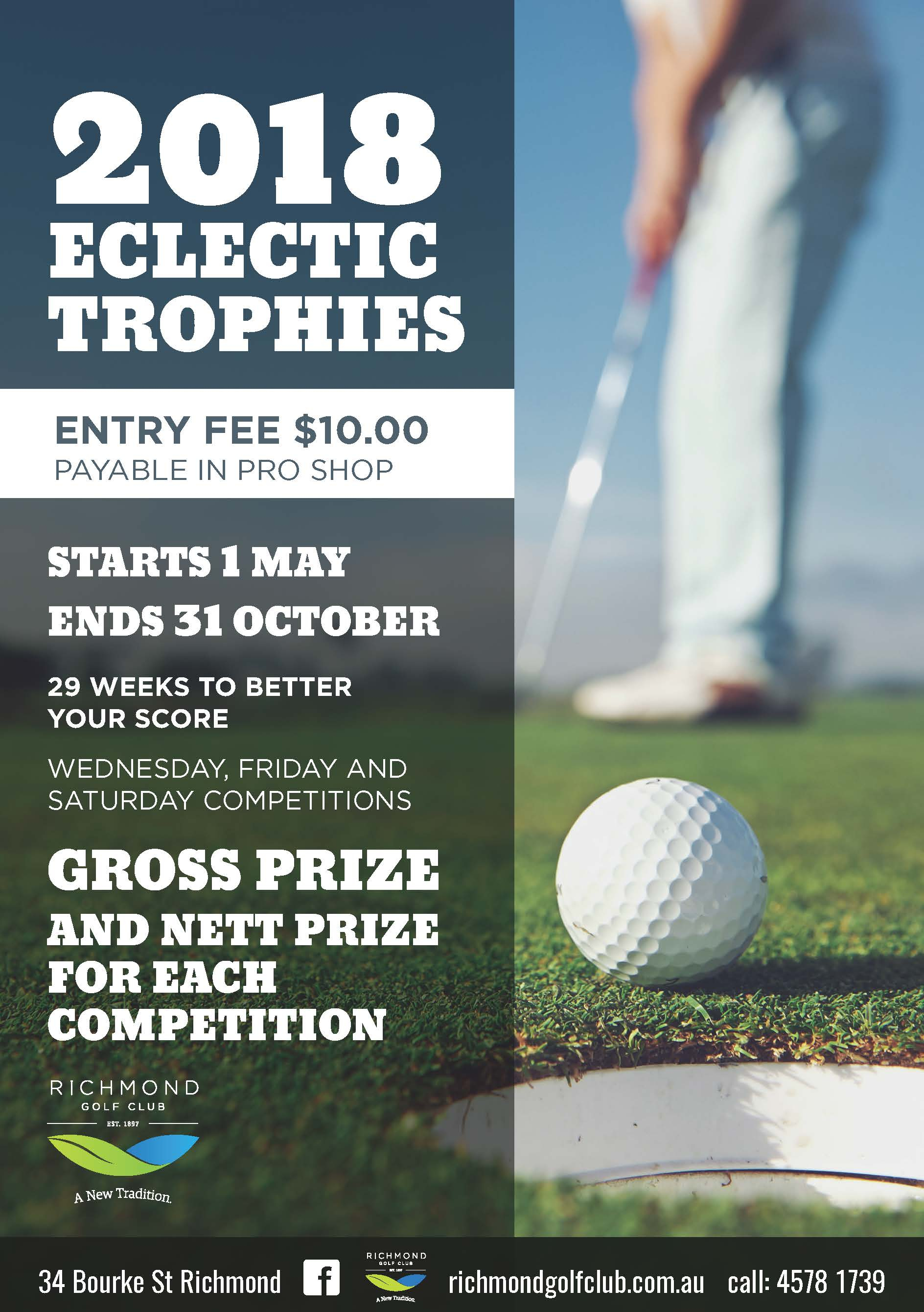 Eclectic Golf Spreadsheet With Eclectic Competitions May 1St – October 31St Richmond Golf Club