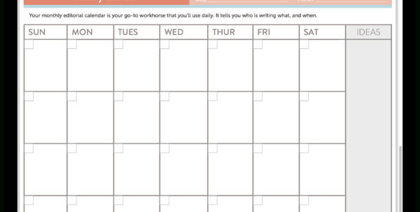 Editorial Calendar Spreadsheet Template In 15 New Social Media Templates To Save You Even More Time