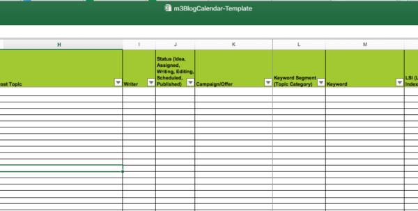 Editorial Calendar Spreadsheet Template In Editorial Calendar Templates For Content Marketing: The Ultimate List