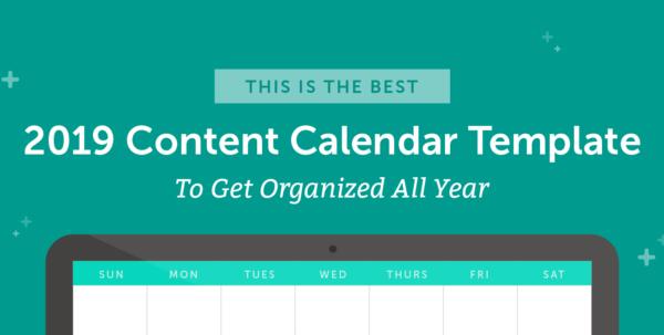 Editorial Calendar Spreadsheet Template Inside The Best 2019 Content Calendar Template: Get Organized All Year