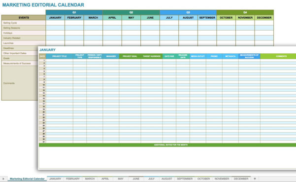 Editorial Calendar Spreadsheet With 12 Free Social Media Templates  Smartsheet