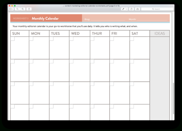 Editorial Calendar Spreadsheet With Regard To 15 New Social Media Templates To Save You Even More Time