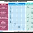 Editorial Calendar Spreadsheet with regard to Editorial Calendar Templates For Content Marketing: The Ultimate List