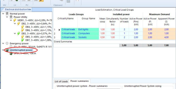 Electrical Maximum Demand Spreadsheet With Electricaldesign Release 16.10