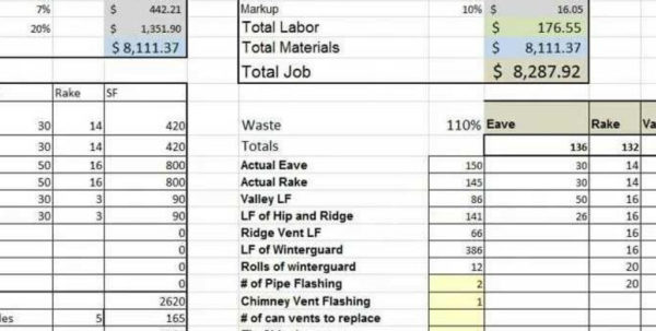 Electrical Spreadsheet With Estimating Sheet With Excel For The General Contractor In Electrical