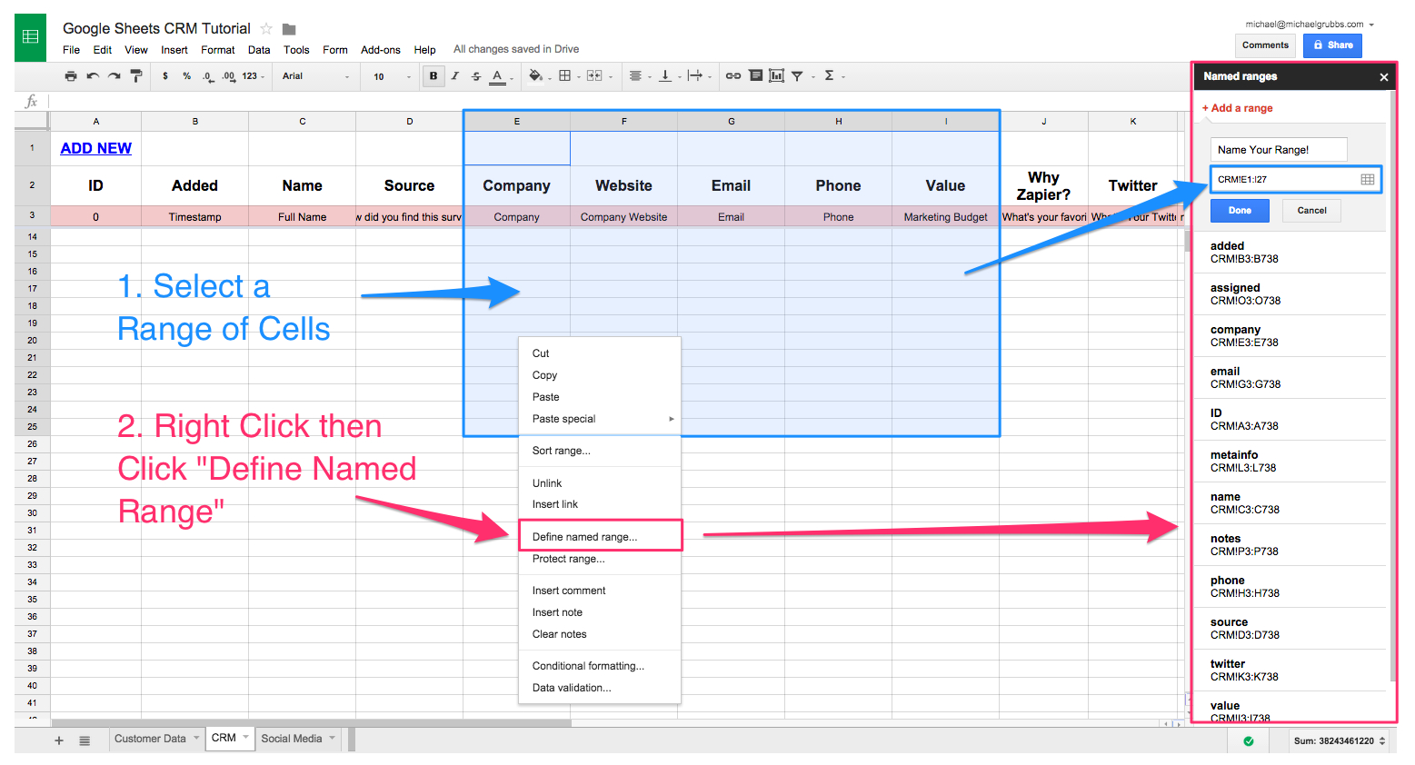 Email Data To Google Spreadsheet Throughout Spreadsheet Crm: How To Create A Customizable Crm With Google Sheets