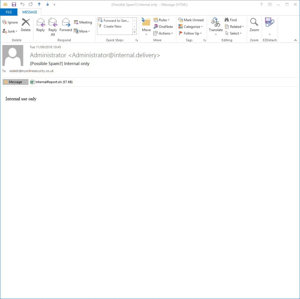 Email Excel Spreadsheet Pertaining To Trickbot Deliveredinternal Only Email With Macro Excel