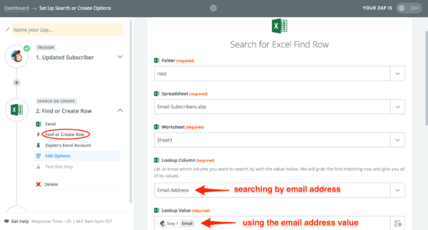Email Excel Spreadsheet With Excel  Integration Help  Support  Zapier