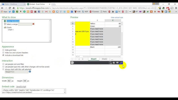Embed Interactive Excel Spreadsheet In Web Page In Embed Interactive Excel Spreadsheet In Web Page How To Into Your