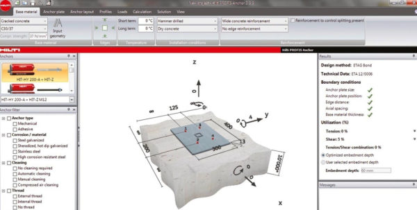 Embed Plate Design Spreadsheet Within Anchor Design Center  Hilti Usa