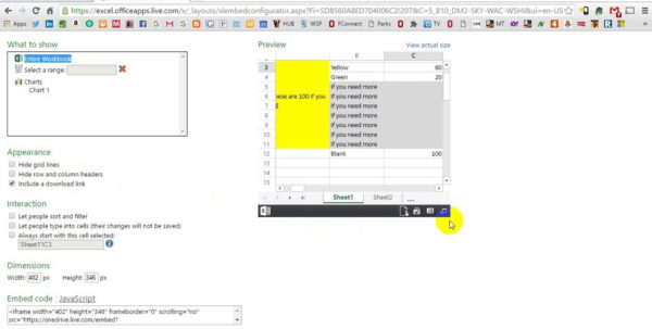 Embed Spreadsheet In Website Inside Embed Interactive Excel Spreadsheet In Web Page How To Into Your