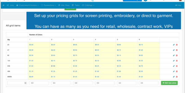Embroidery Pricing Spreadsheet In Screen Printing And Embroidery  Shopvox
