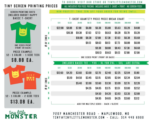 Embroidery Pricing Spreadsheet Regarding Price Quote  Tiny Little Monster