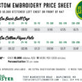 Embroidery Pricing Spreadsheet Throughout Price Quote  Tiny Little Monster