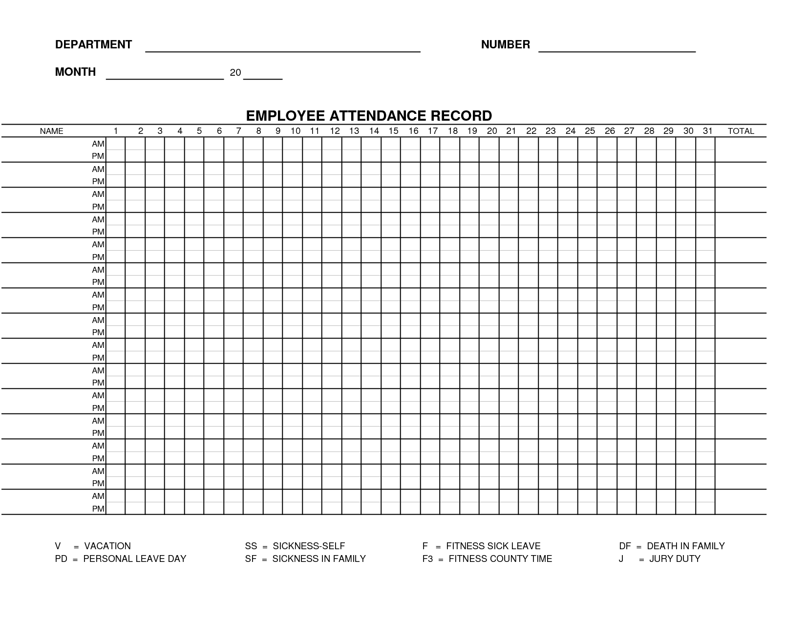 Employee Annual Leave Record Spreadsheet Throughout 13  Employee Record Form Template Free  This Is Charlietrotter