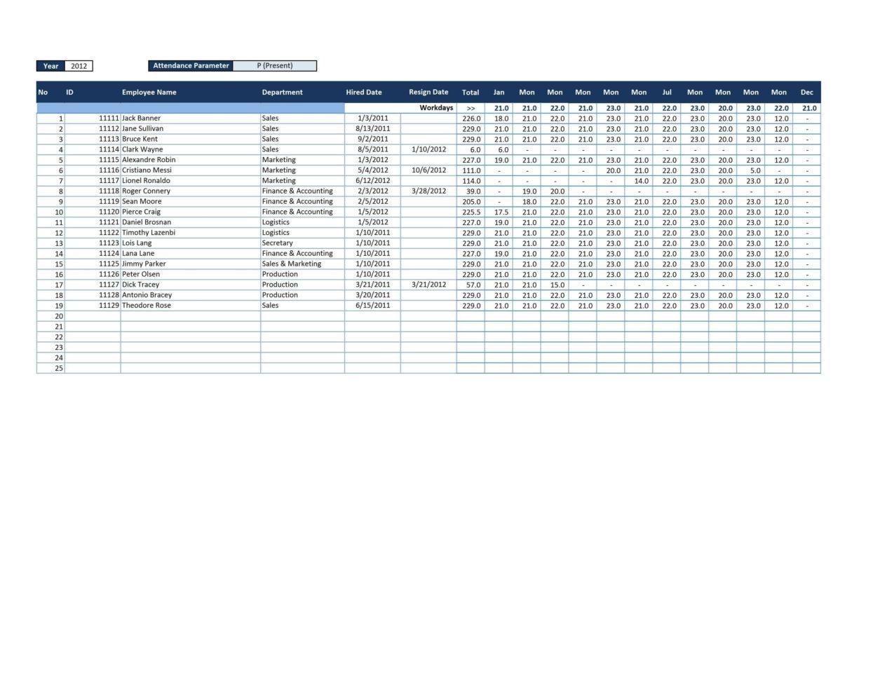 Employee Attendance Point System Spreadsheet For Employee Attendance Point System Spreadsheet Examples Calendar Excel