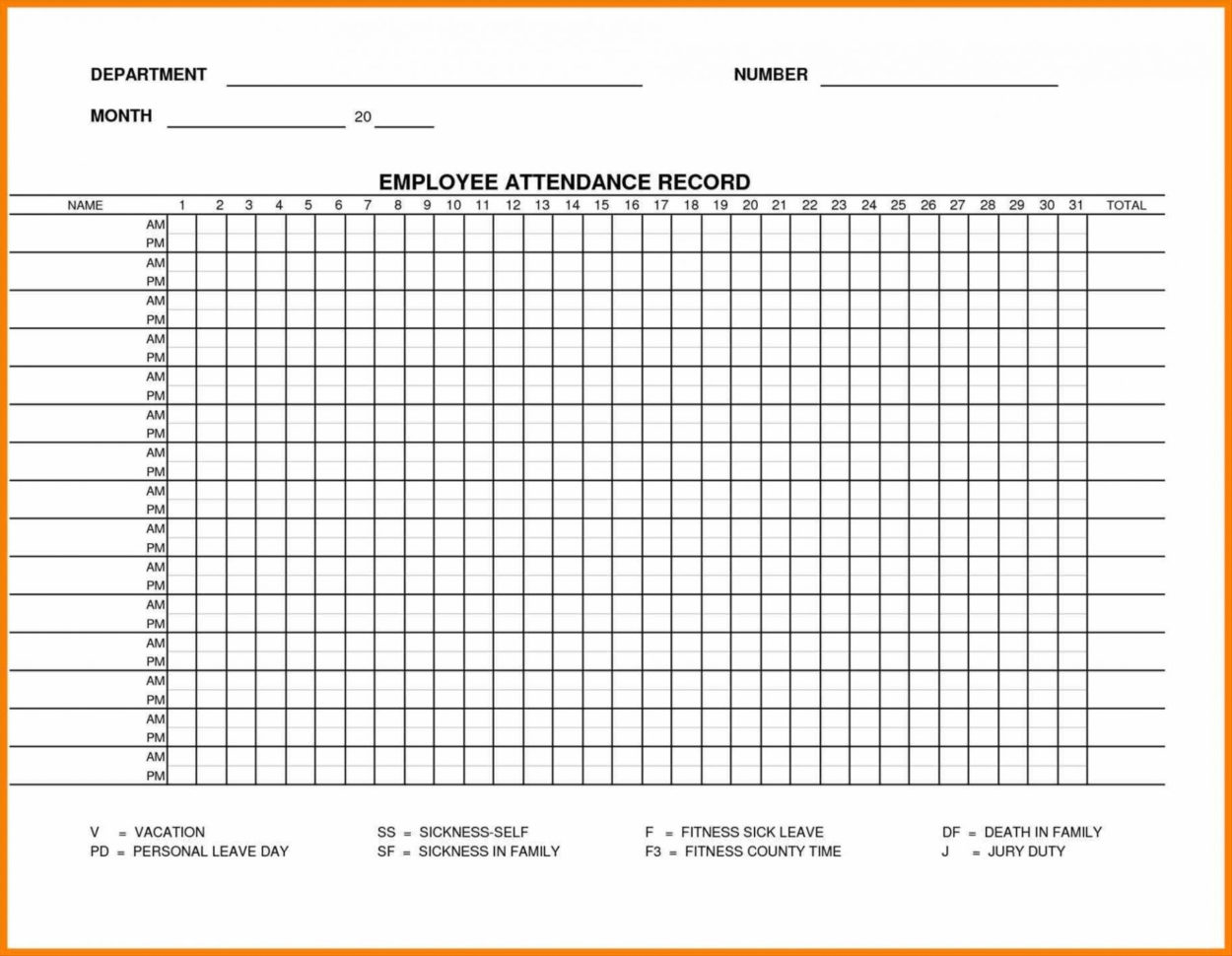 Employee Attendance Spreadsheet Spreadsheet Downloa ...