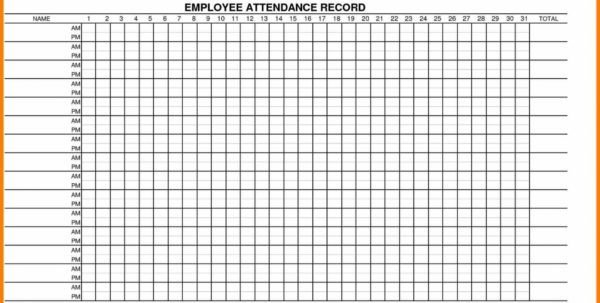 Employee Attendance Spreadsheet With Regard To Printable Employee Attendance Sheet Excel 2018 Within Employee