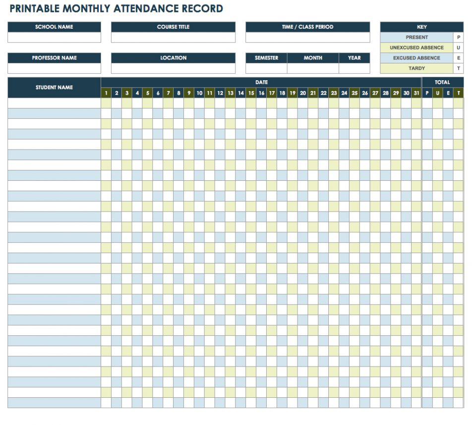 Employee Attendance Tracker Spreadsheet With Employee Attendance Tracking Spreadsheet And With Free Tracker