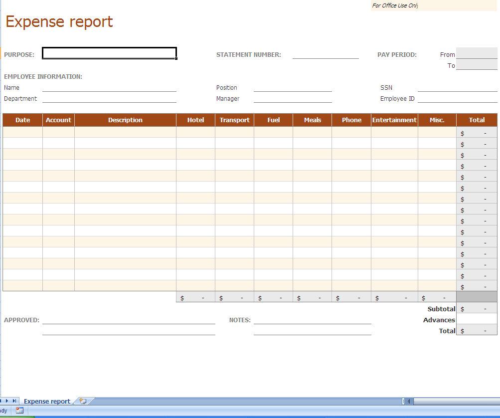 Employee Budget Spreadsheet Within Expense Sheet Template Free Report Spreadsheet Employee Monthly