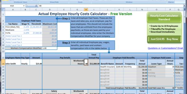 Employee Cost Spreadsheet Regarding Spreadsheet Examplesoyee Expenses Template Restaurant Schedule