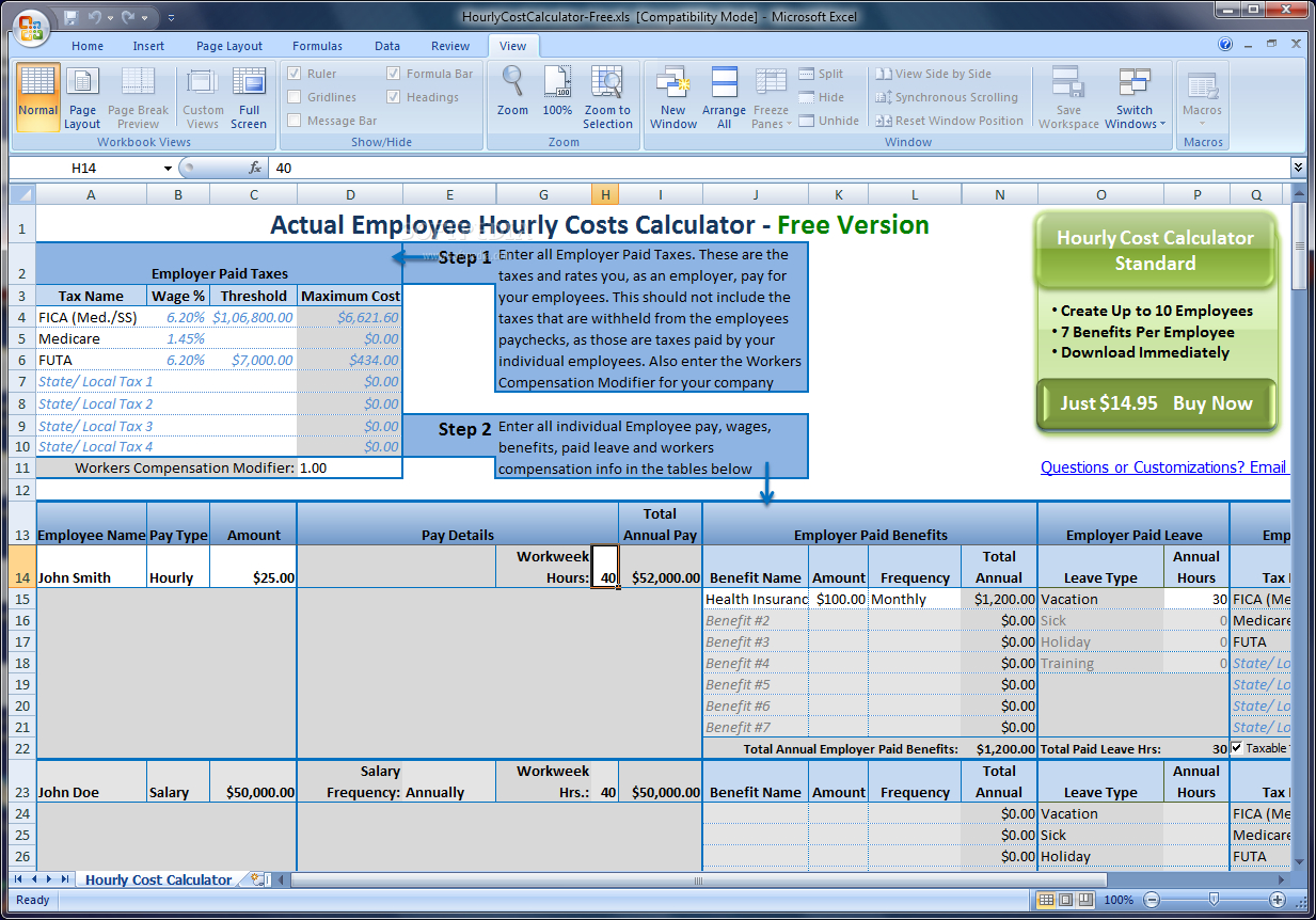 Employee Cost Spreadsheet Regarding Spreadsheet Examplesoyee Expenses Template Restaurant Schedule