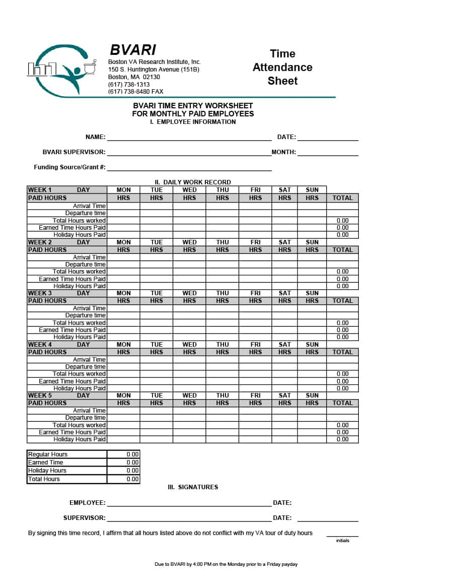 Employee Error Tracking Spreadsheet Inside 40  Free Attendance Tracker Templates [Employee, Student, Meeting]