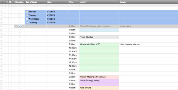 Employee Labor Cost Spreadsheet Regarding Restaurant Employee Schedule Labor Cost Spreadsheet For Excel And
