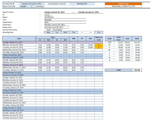 Employee Productivity Spreadsheet Pertaining To Top 3 Spreadsheets To Manage Your Employee's Attendance – Excel
