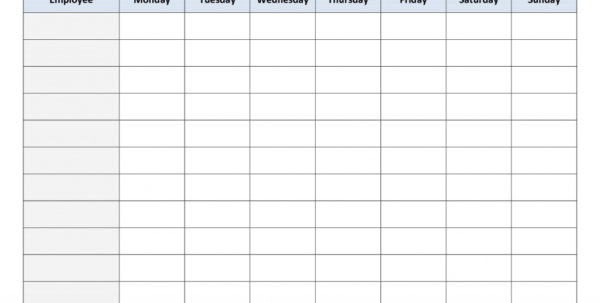 Employee Schedule Spreadsheet Template Inside Employee Schedule Spreadsheet Template Free Printable Work Schedules