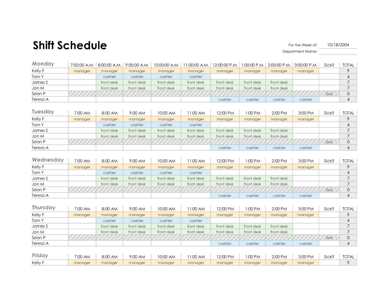 Employee Scheduling Spreadsheet Regarding Excel Spreadsheet For Scheduling Employee Shifts And Employee