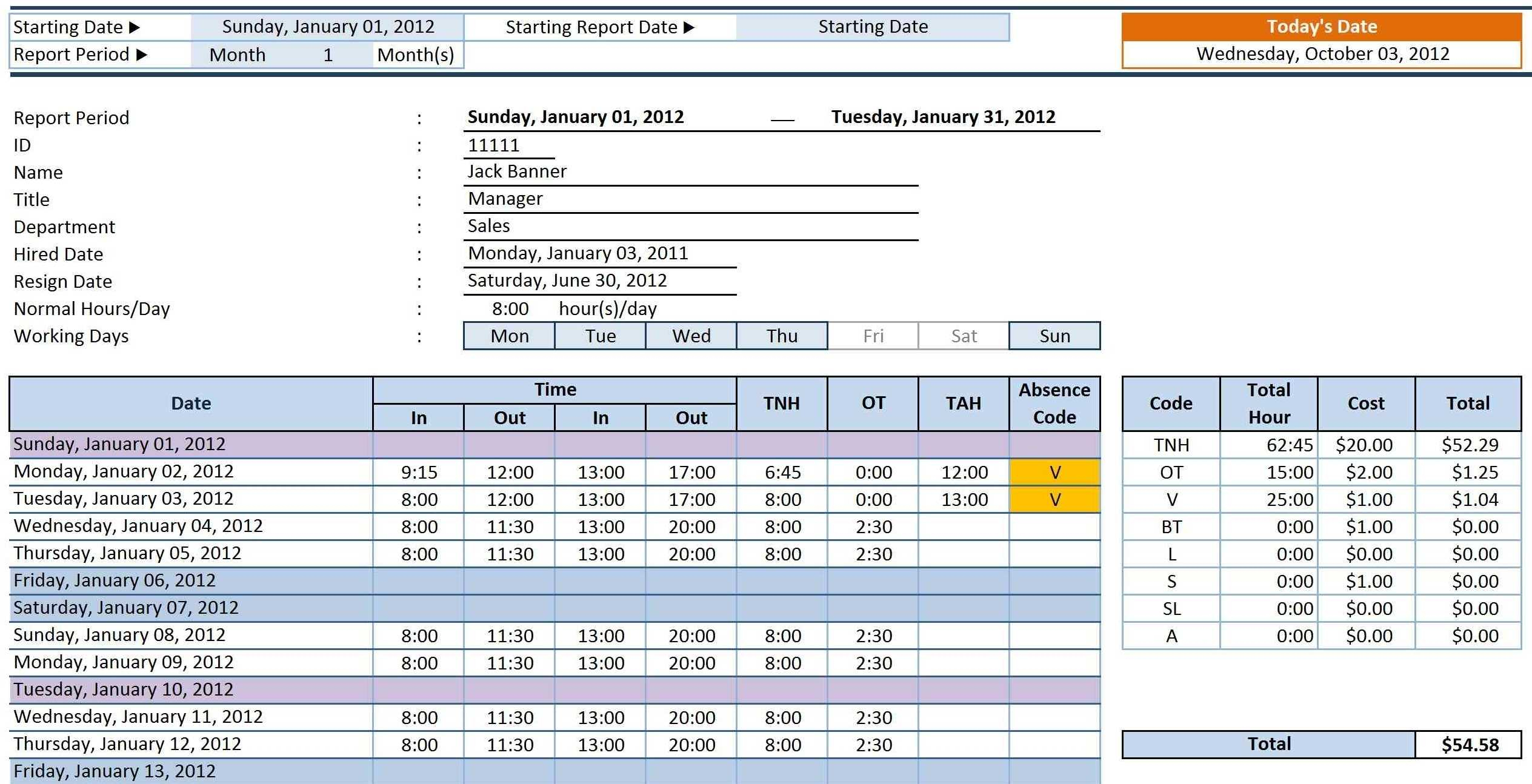 Spreadsheet Template Page 29 Construction Project ...