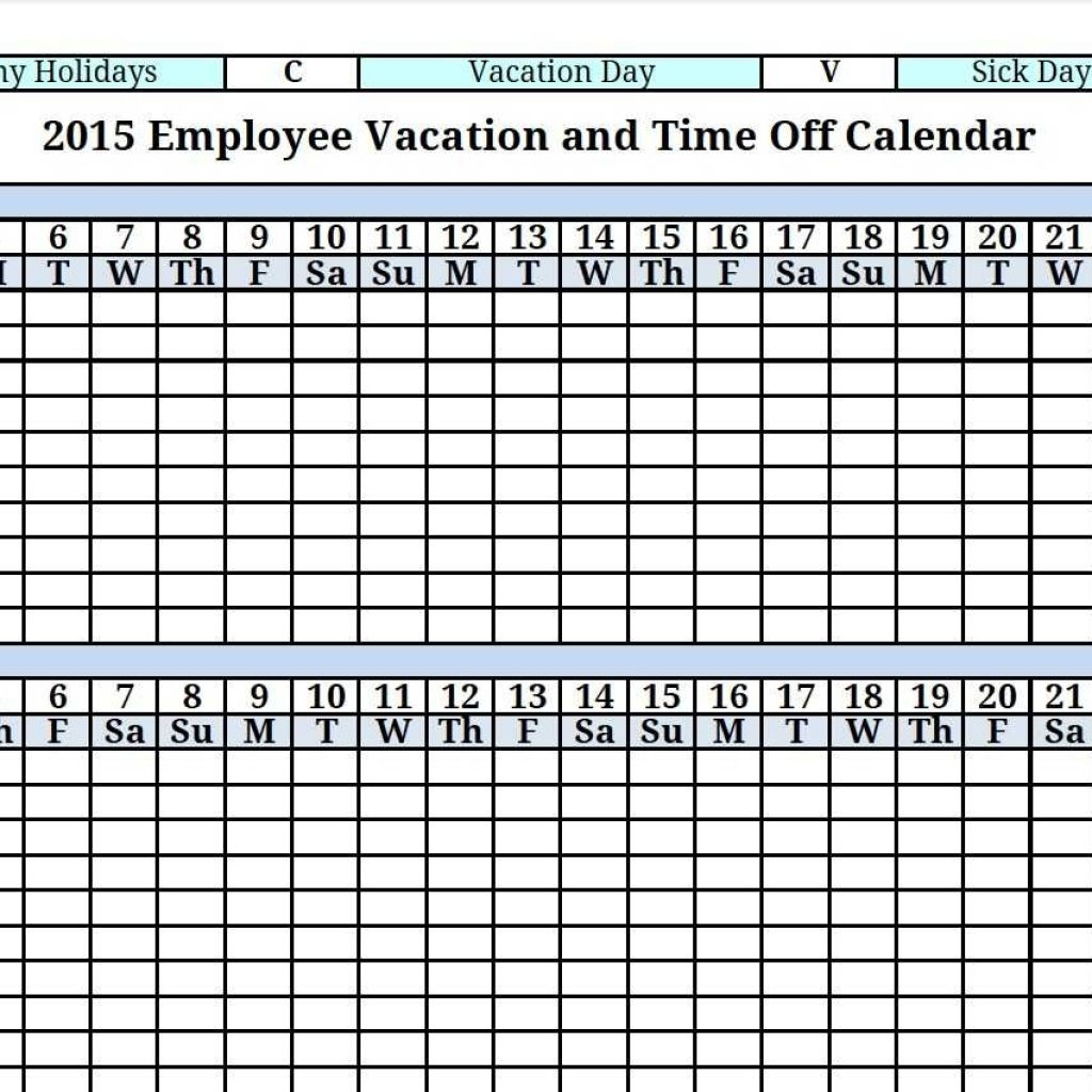 Employee Time Off Tracking Spreadsheet pertaining to Time ...